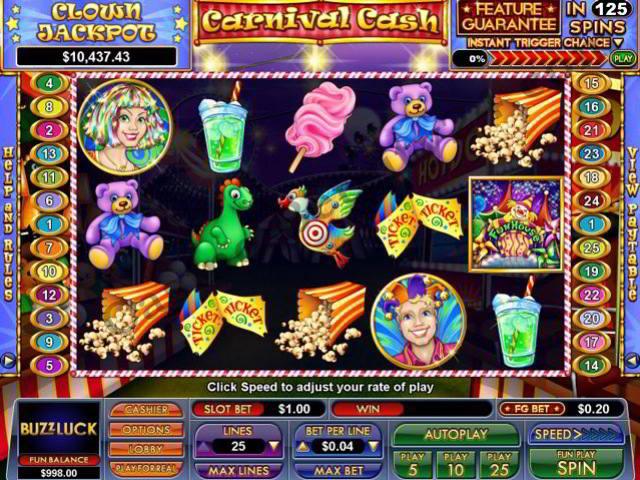 Carnival Cash No Registration Slot